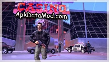 Grand Theft Auto III apk showing gun