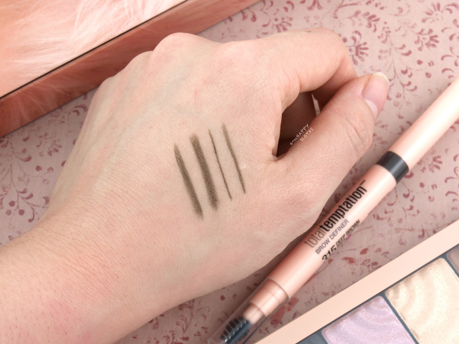 "Maybelline Total Temptation Brow Definer in ""315 Deep Brown"": Review and Swatches"