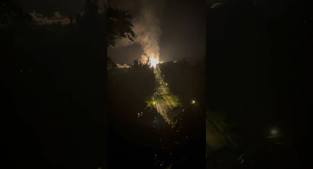 An explosion occurred at a gas pipeline in the centre of Lugansk