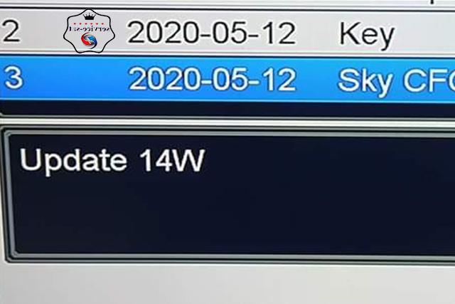 ملف sky.cfg تشغيل قمر الدنقل 14W للاجهزة المنسية التي تعمل  DONGLE