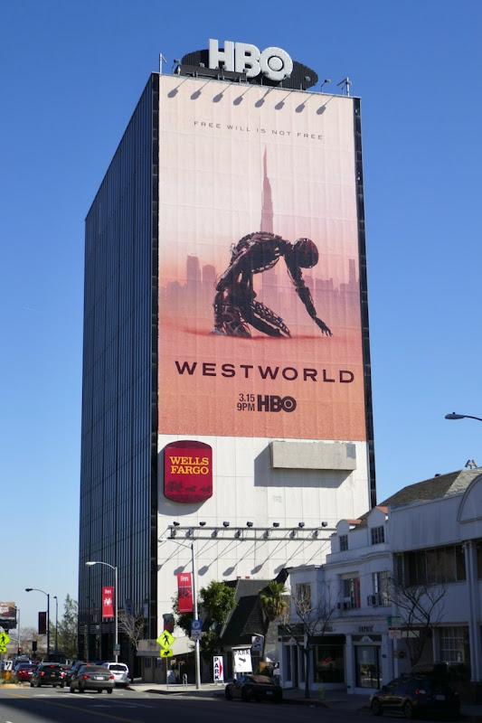 Giant Westworld season 3 billboard Sunset Strip
