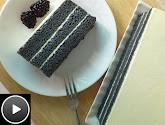 charcoal cake