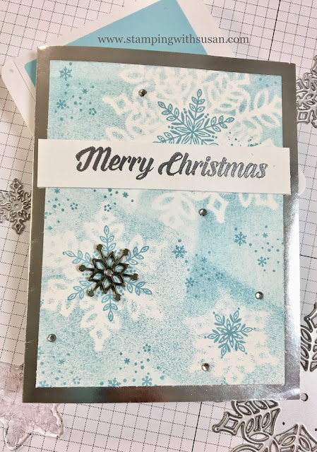 Stampin' Up!, Snowflake Showcase, Snow is Glistening, Snowflake Trinkets, Snowfall Thinlits, www.stampingwithsusan.com