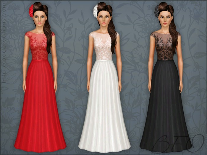 My Sims 3 Blog: Long Formal Dress By BEO