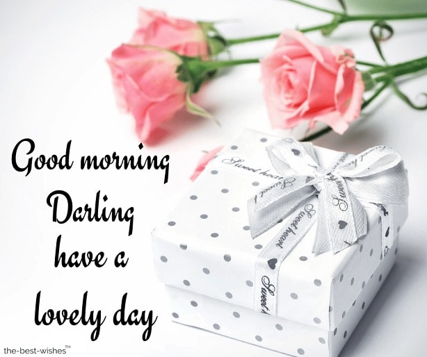 have a lovely day darling