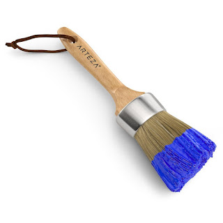 I use this round paint brush to create leaves on the tree  http://urartstudio.com/product/round-wax-brush-2-pack/
