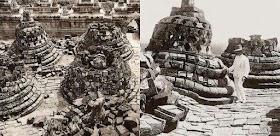 Ini Dia Foto Penampakan Candi Borobudur Saat Pertama Kali Ditemukan