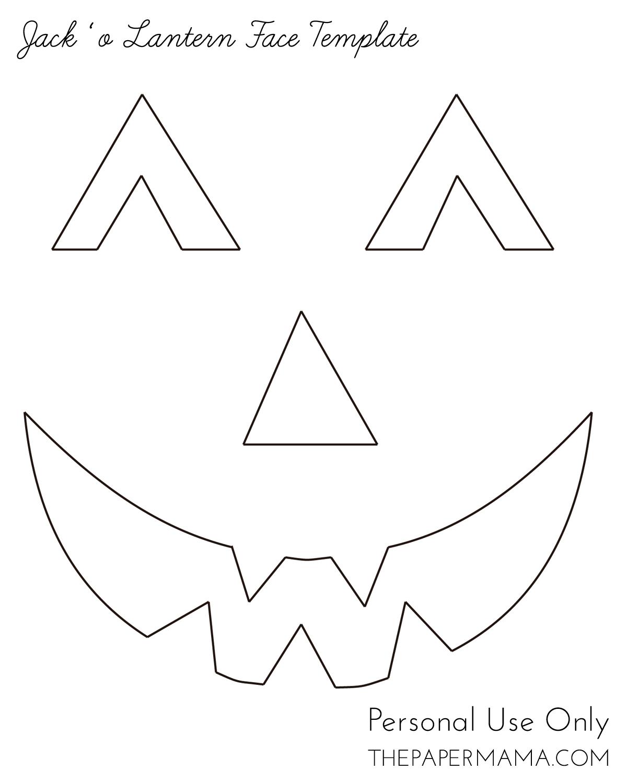 Free Printable Easy Funny Jack O Lantern Face Stencils