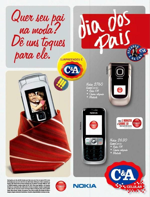 Propaganda da C&A veiculada em 2008 promovendo linha de celulares