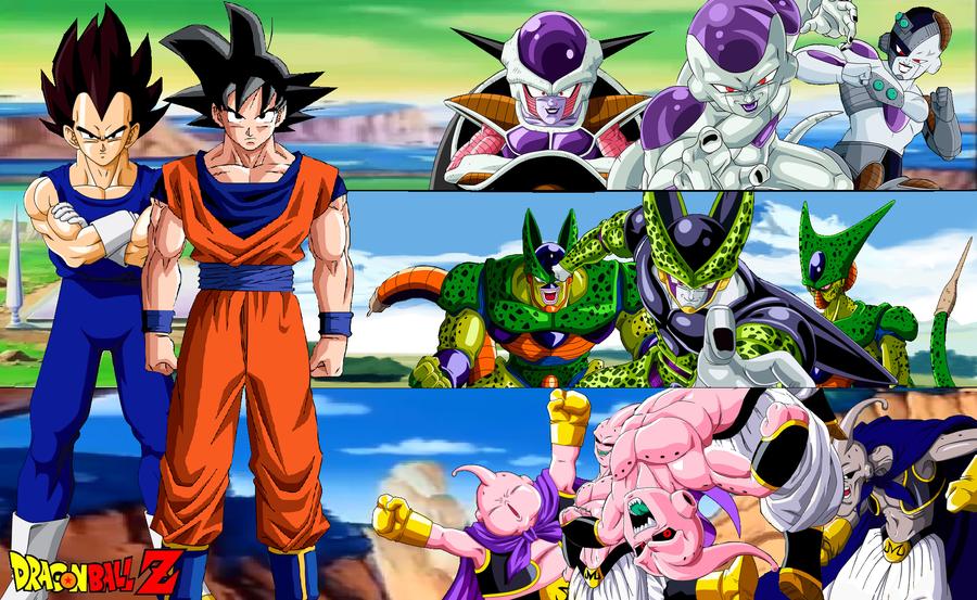 La historia de Dragon Ball Z comienza cuando el hermano mayor de Goku ...