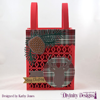 Stamp/Die Duos: Deer Silhouette, Custom Dies: Pinecones and Pine Branches, Card Caddy & Gift Bag, Gift Bag Handles & Topper, Pennant Flags, Paper Collection: Rustic Christmas