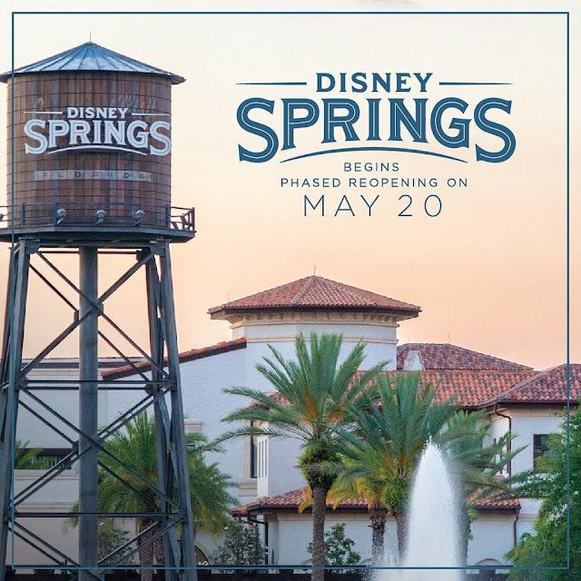 Disney Springs Begins Phased Reopening on May 20, 2020, Walt Disney World Resort, WDW