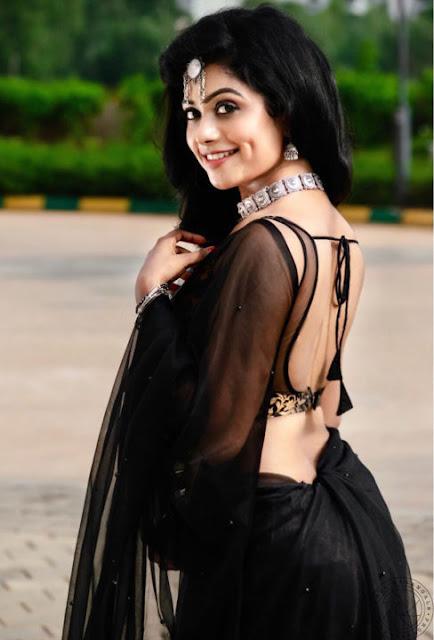 Actress Raashi Balakrishna Hot Black Saree Photos Actress Trend