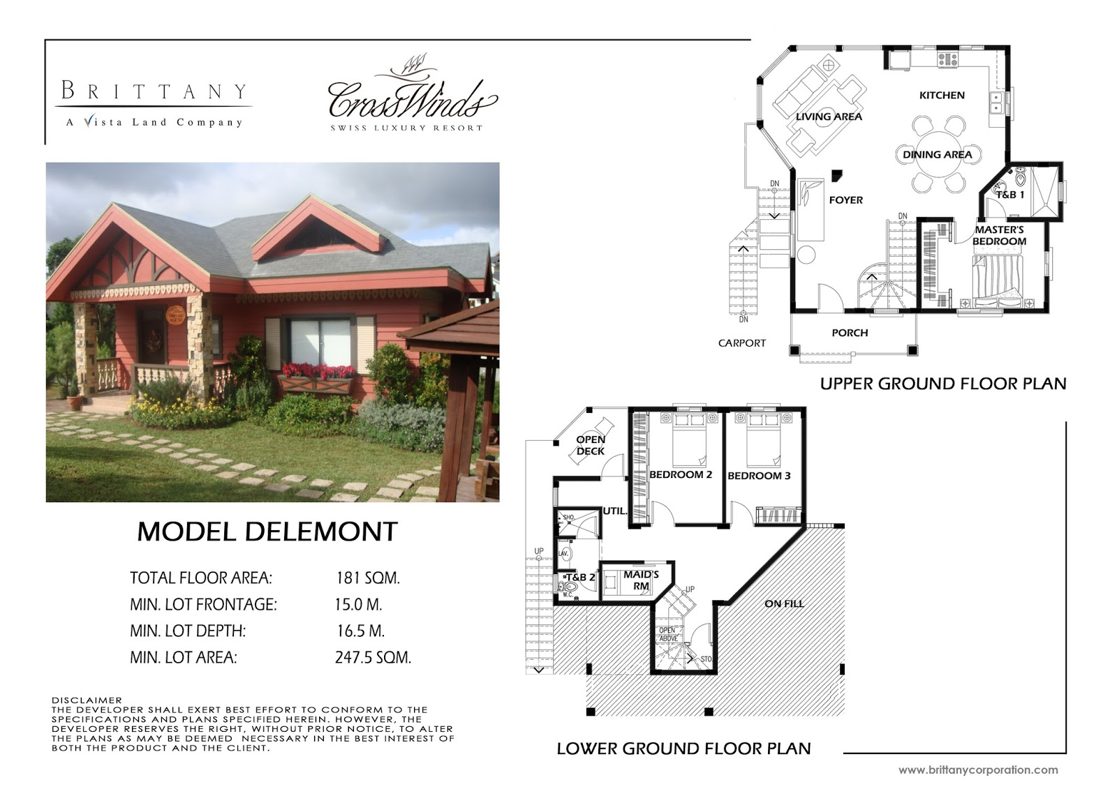 Crosswinds tagaytay moutier luxury house and lot for for City lot house plans