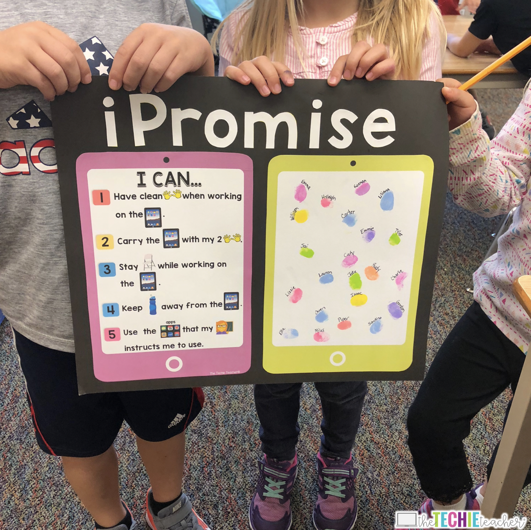 iPromise iPad Poster to Establish Classroom Expectations for Technology Use