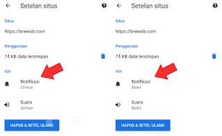 Cara Memblokir Situs di Chrome Android