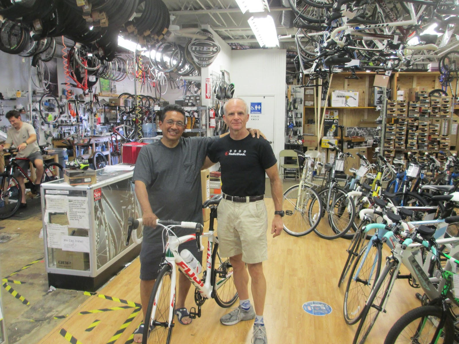 piedmont velo sports my good friend abner stopped by to visit me at ken 39 s bike shop today. Black Bedroom Furniture Sets. Home Design Ideas