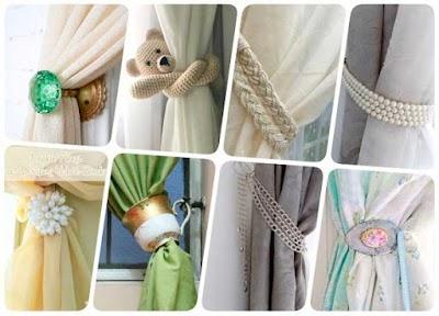 Sujetadores de cortinas creativos para nuestro hogar