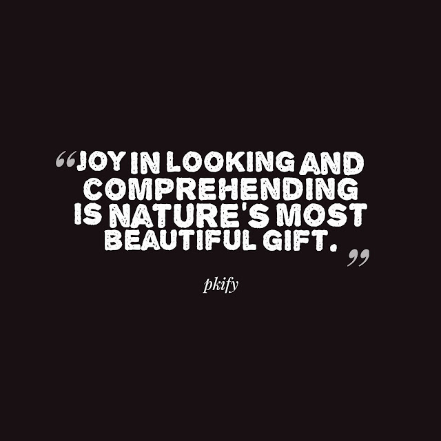 Joy in Looking and Comprehending is Nature's Most Beautiful Gift Nature Quotes