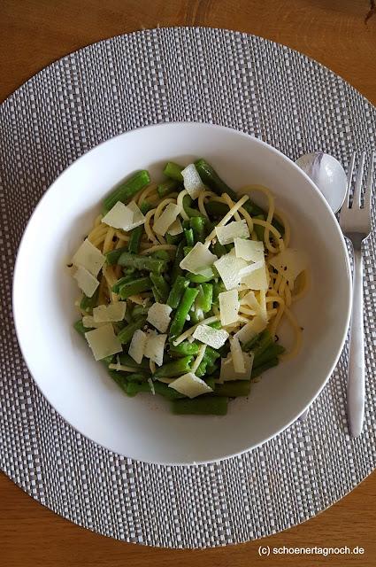 Spaghetti mit grünen Bohnen - Essen für Kleinkinder