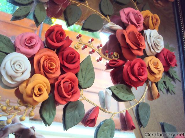 Handmade Italian dough flowers