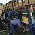 (videos) VOLCÓ UN CAMIÓN CON CERDOS Y UNA MULTITUD LOS FAENÓ Y ROBÓ EN PLENA RUTA