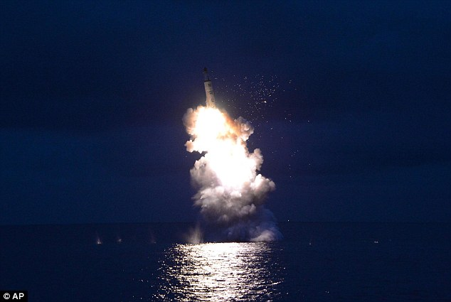 North Korean submarine-launched missile test