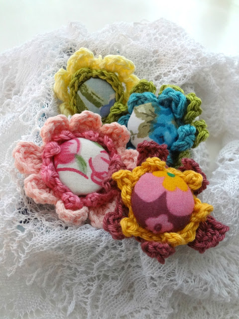 Crochet & Fabric Covered Rings