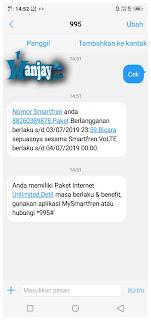 Cek Kuota Smartfren Lewat SMS
