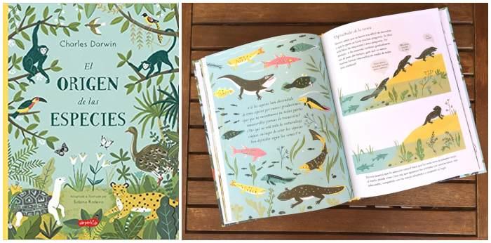 libros cuentos infantiles naturaleza, el origen de las especies charles darwin