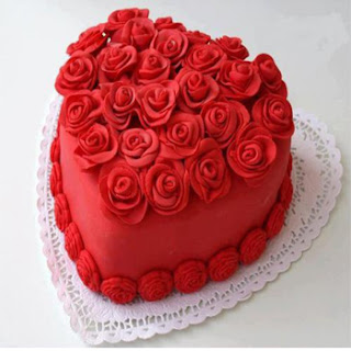 Heart-shaped love cake