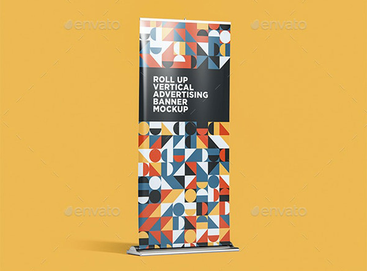 Roll Up Vertical Advertising Banner Mockup 001 27533574 %252C