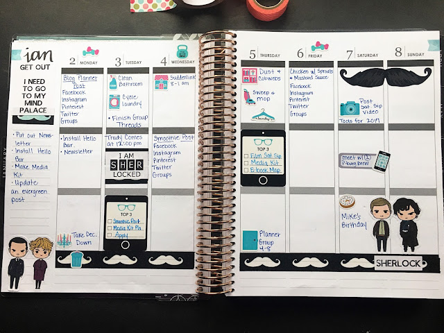 The vertical weekly layout in my Erin Condren planner.