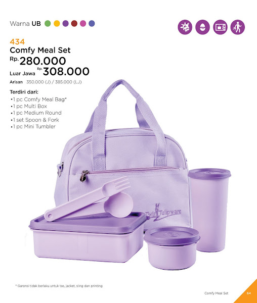 Comfy Meal Set, Katalog Tulipware 2019