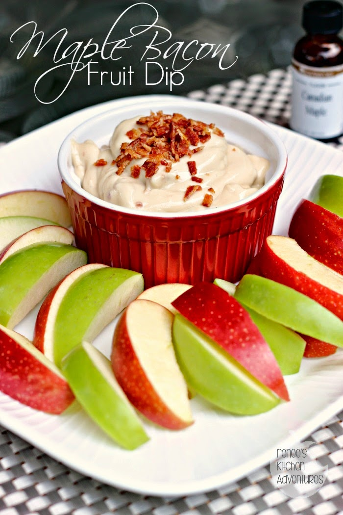 Maple-Bacon Fruit Dip featuring LorAnn Oils and Flavorings