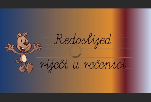 DIGITALNI ALATI - BOOKWIDGETS (RED RIJEČI U REČENICI)
