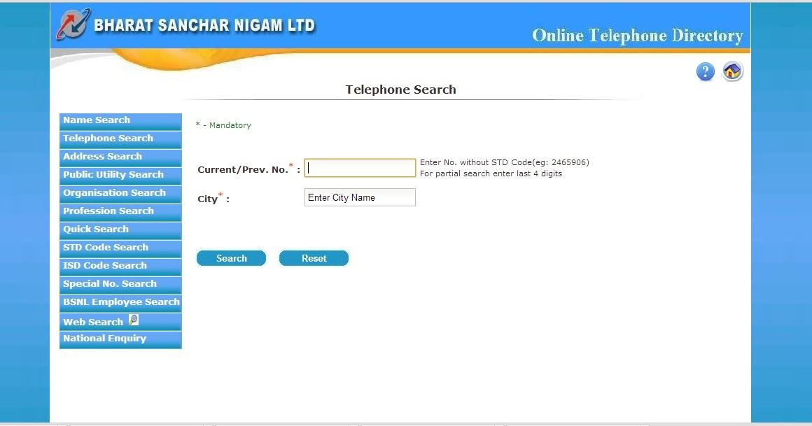 telephone search by name