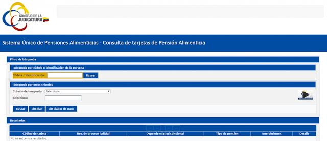 SISTEMA UNICO DE PENSIONES ALIMENTICIAS