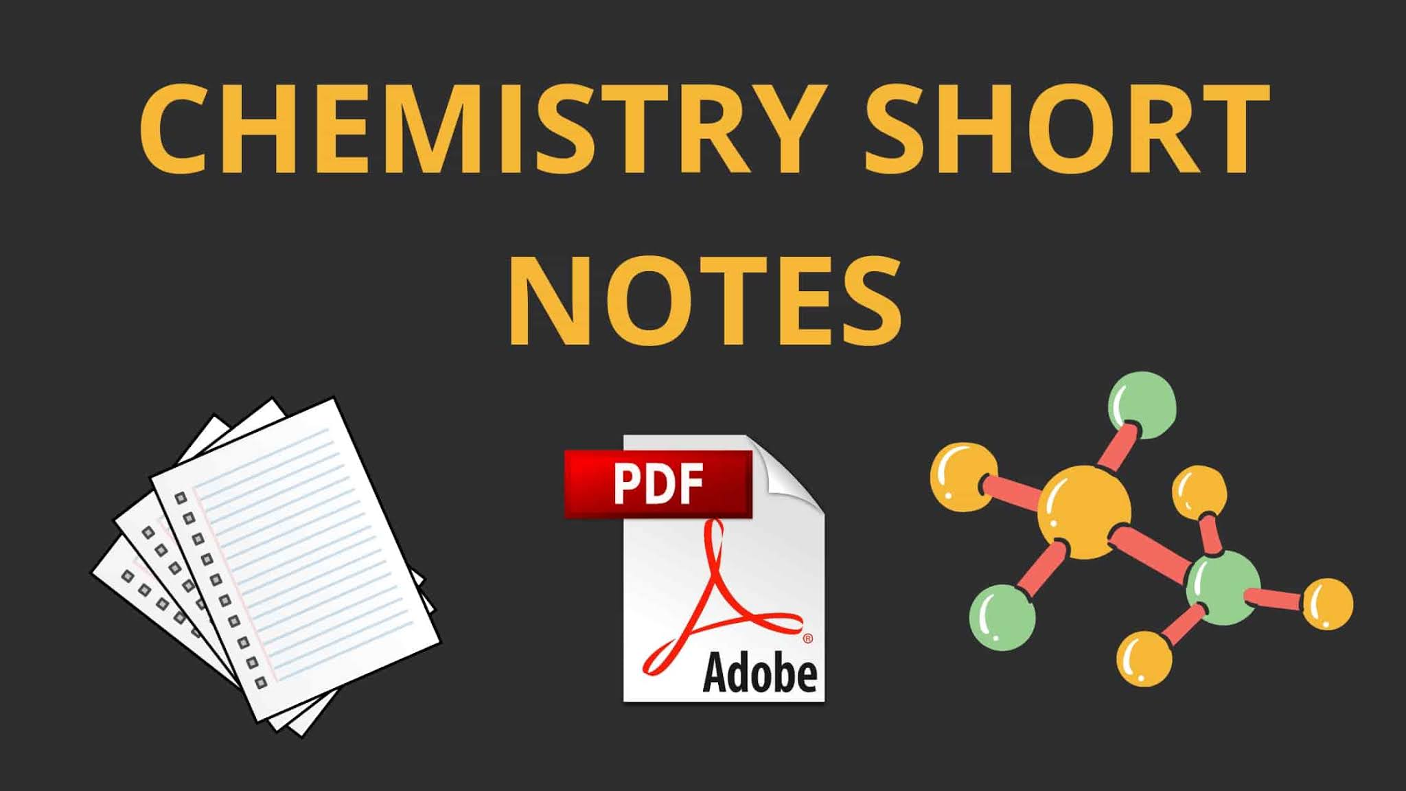 Chemistry Short Notes For IIT JEE Mains and Advance