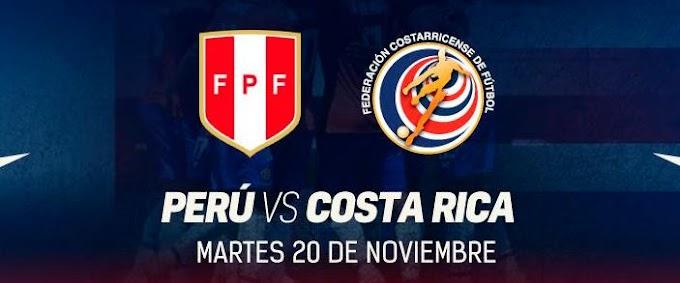Perú vs Costa Rica en Arequipa - Precio de entradas - 20 de noviembre