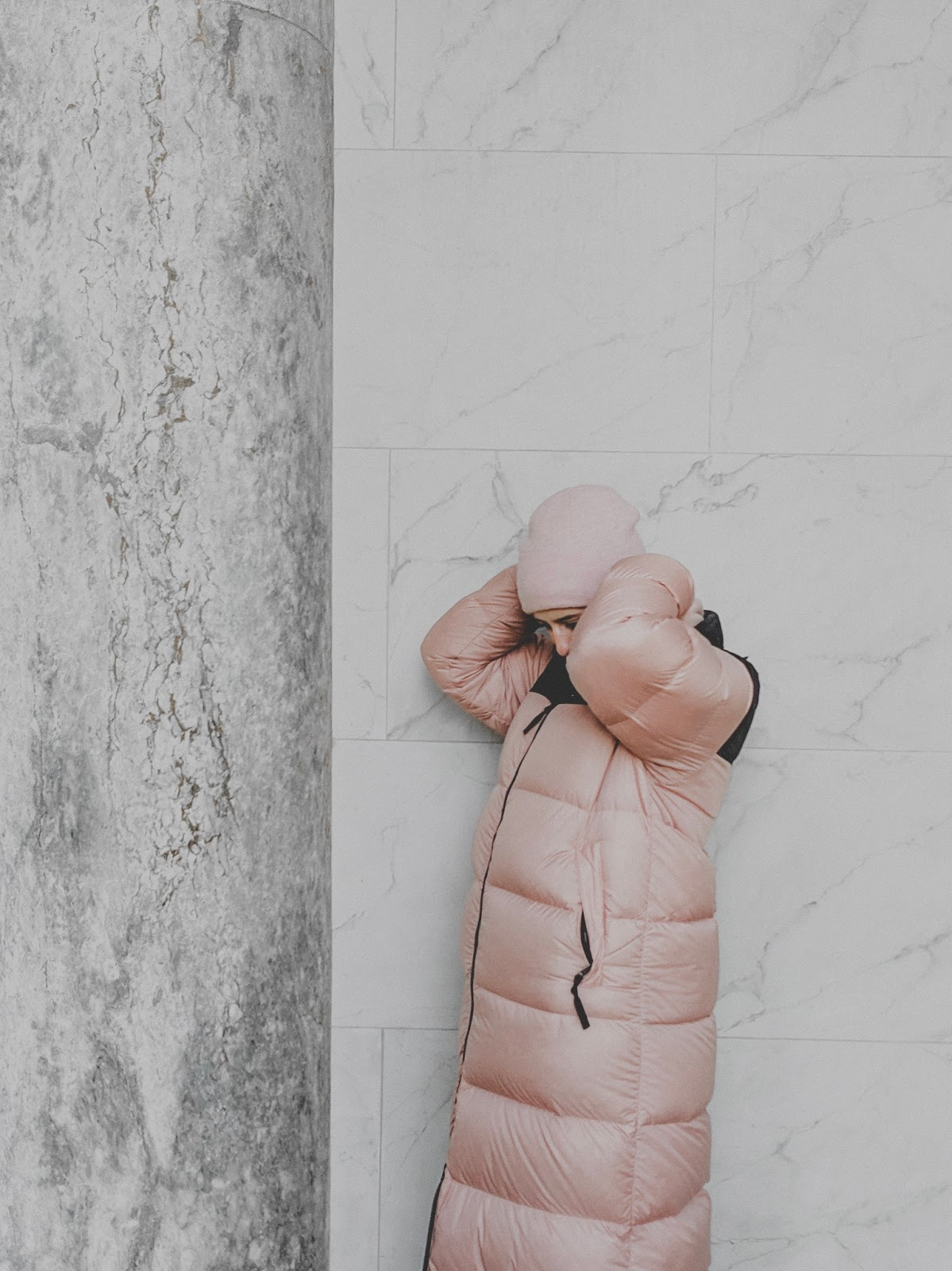 Feeling like summer in winter: my pink marshmallow dream coat
