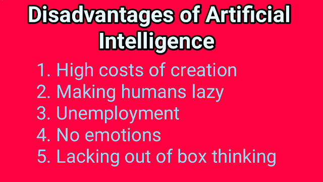 disadvantages of artificial intelligence