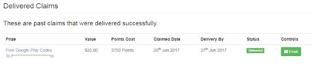 اثبات دفع pointsprizes