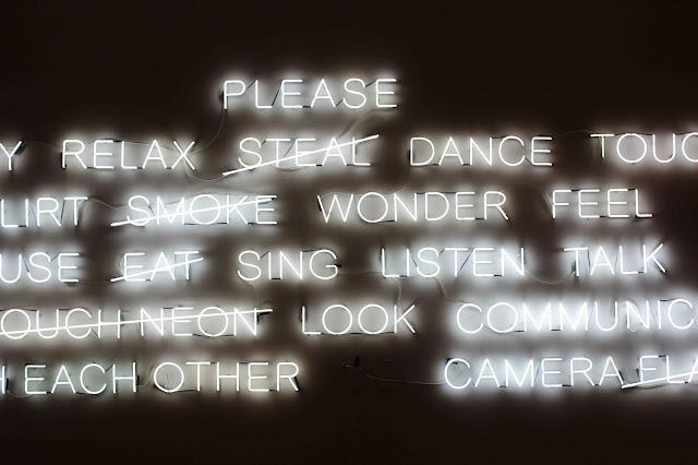 Neon Sign Museum of Fine Arts Boston
