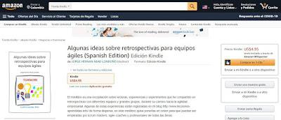 Link de Amazon - Libro Algunas Ideas Sobre Retrospectivas para Equipos Ágiles