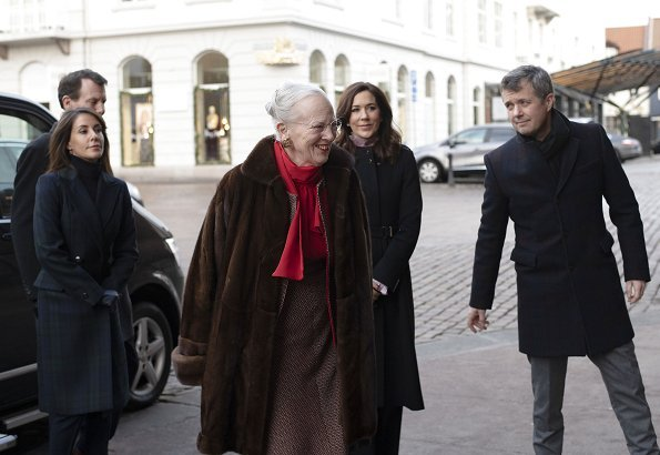 Crown Princess Mary wore Hugo Boss coat - Fall 2014 collection, Princess Marie wore Baum und Pferdgarten Damara coat