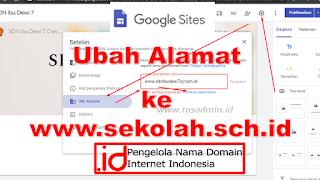 Cara ubah alamat Google Site domain sendiri