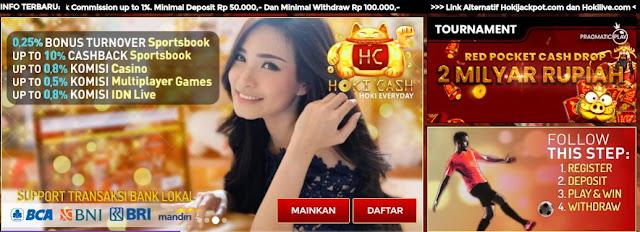 HokiCash77.com – Bonus Next Deposit 10% Dan Full Komisi