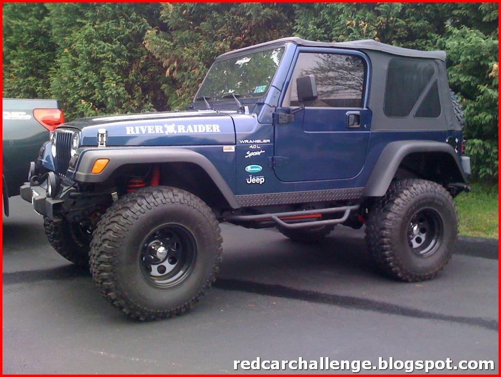 Navy Blue Jeep Wrangler
