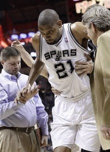Tim Duncan injured